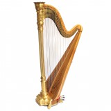 Lyon & Healy Style 23 Gold Concert Grant Pedal Harp