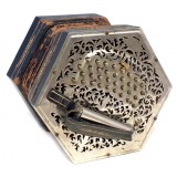 Jeffries 61-Key Duet Concertina, English Anglo